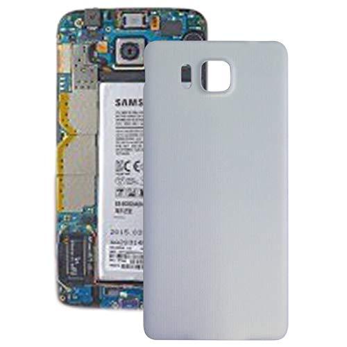 Zhangli Tapa Trasera del telefono Reemplazo de la Cubierta Posterior de la batería para Samsung Galaxy Alpha / G850 contraportada (Color : Blanco)
