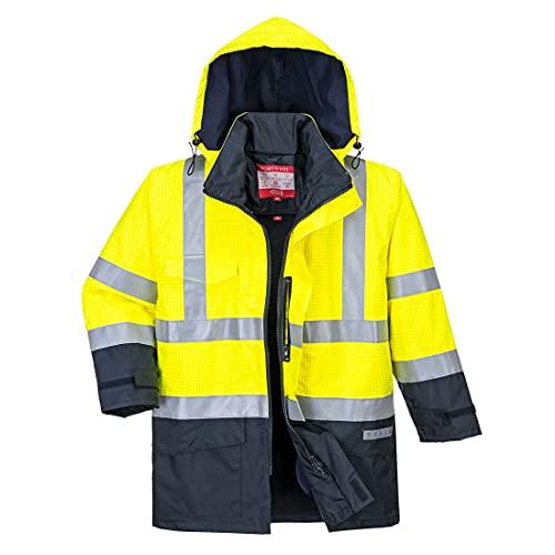 Bizflame S779YNR4XL - Chaqueta de lluvia de alta visibilidad