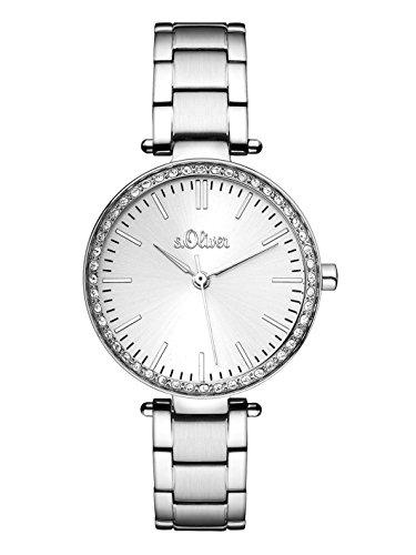 s.Oliver Damen-Armbanduhr Analog Quarz Edelstahl SO-3158-MQ