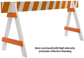 wooden a-frame barricades