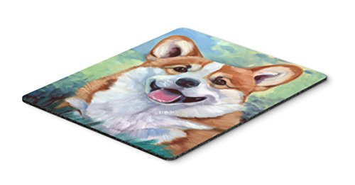 Caroline's Treasures 7366MP Pembroke Corgi Happy Face Mouse Pad, Hot Pad or Trivet, Large, Multicolor