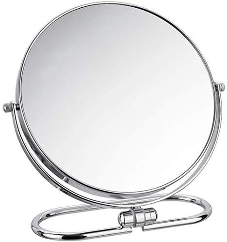 LHY- Maquillage Miroir Miroir Compact Pliant Bureau Mural Double Face Miroir Vanity Portable La Mode