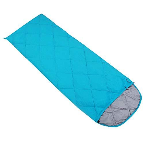 FAN Outdoor Camping Schlafsack Umschlagtyp Sommer Mittagspause Camping Schlafsack Erwachsene Vier Jahreszeiten Schlafsack, Blue,400g