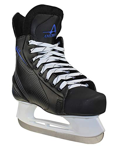 American Ice Force 2.0 Hockey Skate, 7, Black