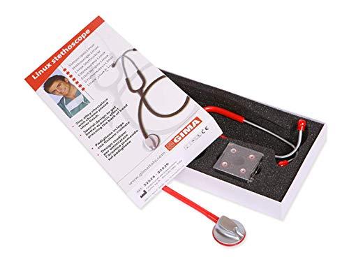 Gima 32529 Stetoscopio Linux, Rosso