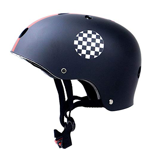 Kinder Skateboard helm, Skihelm Kinderhelm, Kinderhelm, Verstelbare Helm voor fietsen, Skis, Skateboards, Mountainbikes, 3-13, Kinderen