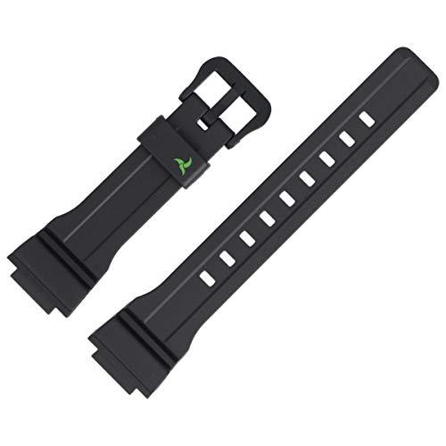 Casio STL-S300H - Correa de repuesto para reloj (plástico, 21 mm), color negro