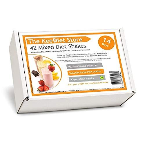 42 Meal Replacement VLCD Diet Shakes by KeeDiet - 2 Weeks Social Plan