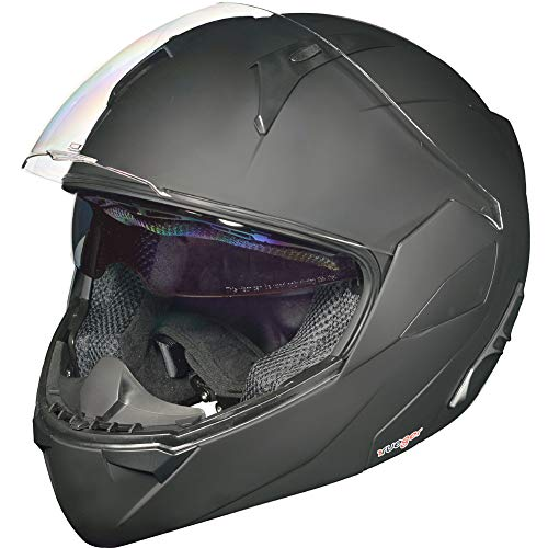 RS-992 Klapphelm Motorradhelm Conzept Motorrad Modular Roller Helm rueger, Größe:XS (53-54), Farbe:Matt Schwarz
