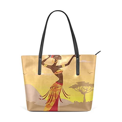 NR Multicolour Fashion Damen Handtaschen Schulterbeutel Umhängetaschen Damentaschen,Afrikanische Frau in der Wüste mit den Möven, die um weiblichen stilvollen kunstvollen Volksdruck fliegen