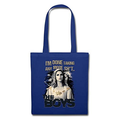 Spreadshirt The Boys I'm Done Talking Tote Bag, royal blue