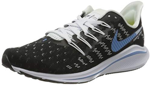 Nike Women's WMNS AIR Zoom Vomero 14 Running Shoes, Nero Black Lt Blue Half Blue White Chrome Yellow 007, 3.5 UK