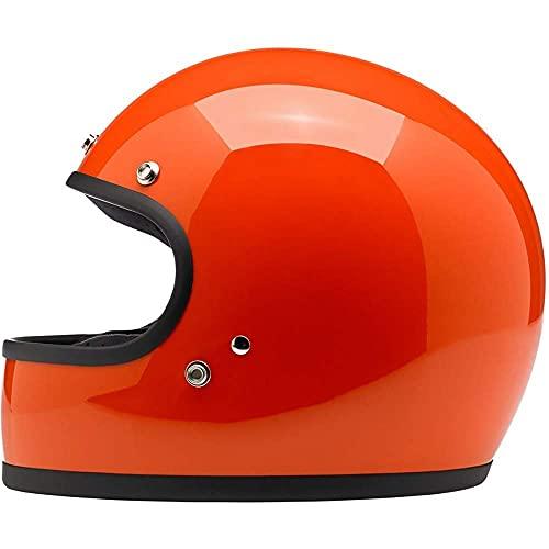 Casco de Moto Retro Casco Integral, Certificado ECE, Cascos de Motocross con Visor antivaho, Casco de Scooter Casco de ciclomotor Casco de Scooter Bobber Chopper Crash Cruiser Racing Locomotive