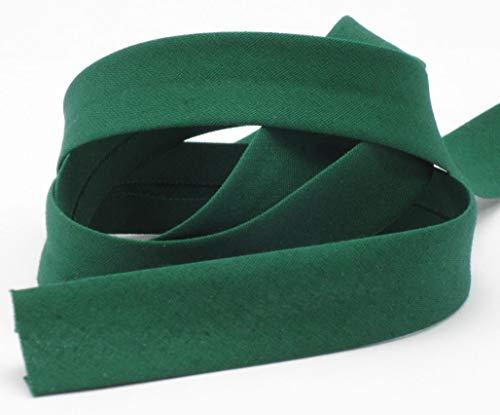 Schrägband, Elastisch, 18mm, Kanten-band, elastic, nähen, Meterware, 1meter (grün)