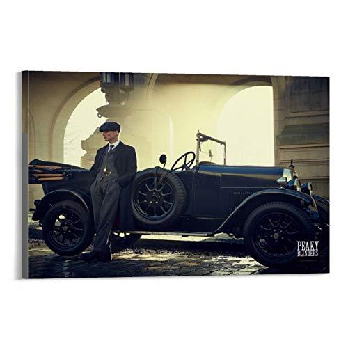 CHAOZHE Póster de dramas de la serie británica de televisión dramática de Peaky Blinders Tommy, póster decorativo de pared, lienzo para sala de estar, dormitorio, 40 x 60 cm