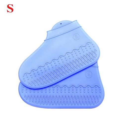 Wanyudz Wiederverwendbare Regensocken aus Silikon für Stiefel und Überschuhe Verdicken Sie die wasserdichten, rutschfesten, waschbaren Schuhschoner Elastizität für Aktivitäten im Freien
