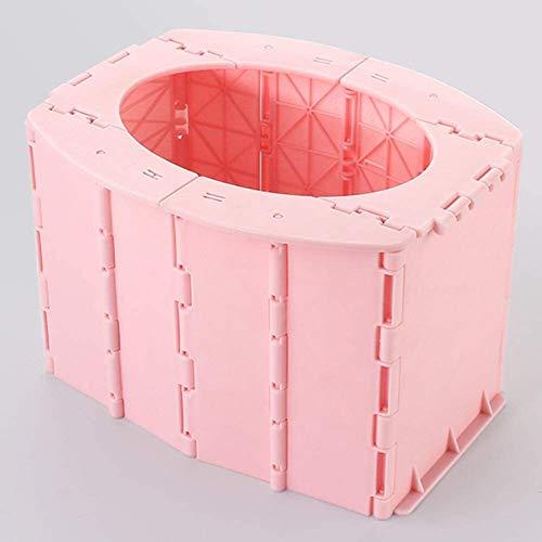 HLJ Toilettes for Enfants, Go Out Pliant Toilettes, Portable Voiture Urinoir, Stable sans retournement, sûre et respectueuse de l'environnement Bleu (Color : Pink)