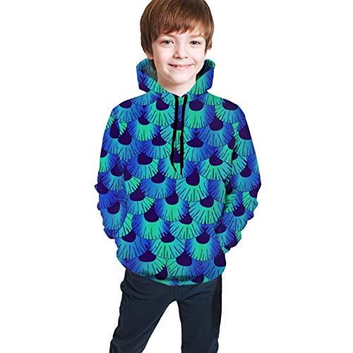 Cuento de sirena con capucha para adolescentes con capucha unisex 3D impreso Jersey casual con capucha de manga larga Casual Top sudaderas con bolsillos
