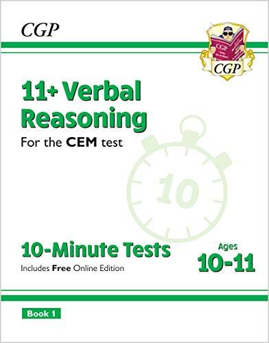 New 11+ CEM 10-Minute Tests: Verbal Reasoning - Ages 10-11 B