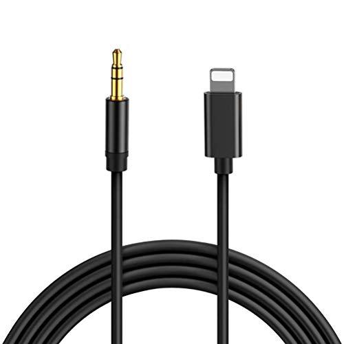 Auto Aux Kabel für iPhone 11 [ 1M ] AUX Kabel Auto Handy für auf 3.5mm Klinke für Auto Stereo/Kopfhörer/Lautsprecher System/Home/Auto-Stereoanlagen Kompatibel mit iPhone 7/8/X/XR/XS/11 - Schwarz