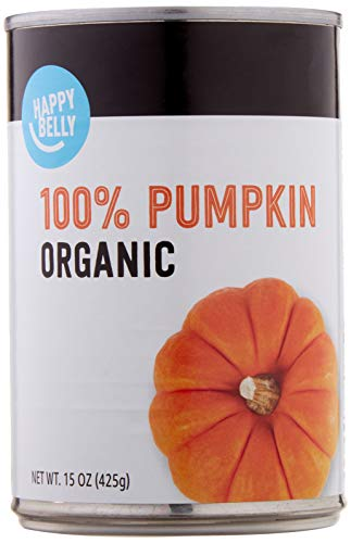 Amazon Brand – Happy Belly Organic 100% Pumpkin, 15 Ounces