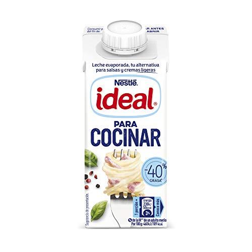 Nestlé Ideal - Leche Evaporada Para Salsas y Cremas Ligeras - Pack de 15 x 210 g
