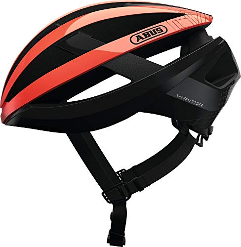 ABUS Unisex-Erwachsene VIANTOR Road Helm, shrimp orange, L