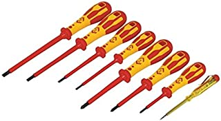 C. K Tools T49192 Dextro VDE Insulated Slotted Cabinet Tip/Phillips Screwdriver Set, 8-Piece