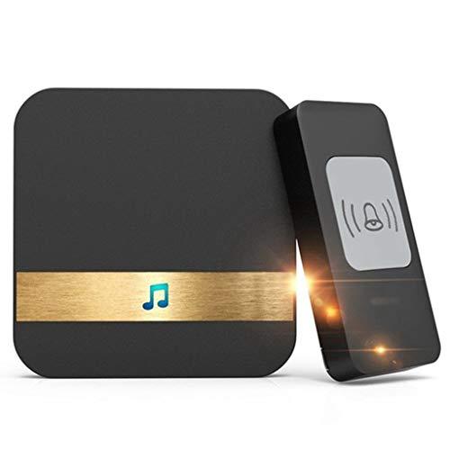 JYDQM Timbre inalámbrico Remoto 300M Campana de Llamada automática de Larga Distancia Campanas electrónicas Impermeables Accesorios para el hogar Inteligente (E