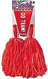 Forum Novelties Cheerleader Pom Pom and Megaphone Set (Red)