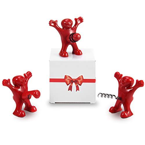 CENXINY Geschenke für Männer und Frauen, Wein Falschenöffner und Stopper Set Gag Geschenk Witziges Geschenk Lustiges Geschenk für Geburtstag/Weihnachten/Feiertage