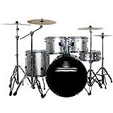 Tambores Percusión Batería Profesional Adulto Jazz Partido Percusión Infantil Ejercicio Conjunto Principiante 5 4 Piezas (Color : Silver, Size : 100 * 140cm)