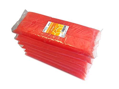 Boston Tech BE106-A Pura cera di paraffina 3 Kg. 6 blocchi da 500g C/u. Ideale per qualsiasi bagno di paraffina. Uso terapeutico ed estetico. (Arancio