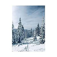 雪景色キャンバスアート絵画モダンポスタープリント北欧ミニマリズム壁画リビングルーム寝室装飾フレームなし