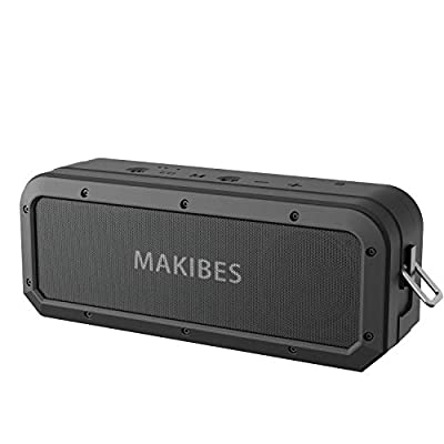 Bluetooth speaker, Makibes M2 Portable Wireless Speaker with Powerful 40W Tri-Bass, 15 Hrs Playtime, TWS, Voice Assistant, 100ft Range, Bluetooth 5.0 for Outdoor Party, Beach, Shower from Makibes