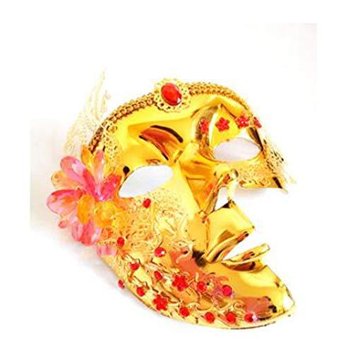 ZHANGXLMM Mascarada Drama De Televisión Wu Mei Niang COS LAN Ling Wang Máscara Máscara De Pasarela De La Princesa Máscara De La Máscara De Halloween,Gold