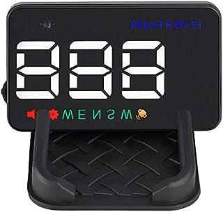 BLESYS 3,5 Zoll GPS Head up Display Geschwindigkeit in großer Schrift, Reflect on Windshield oder See on the HUD Bildschirm Schließen Sie als Auto Tachometer den Zigarettenanzünder an