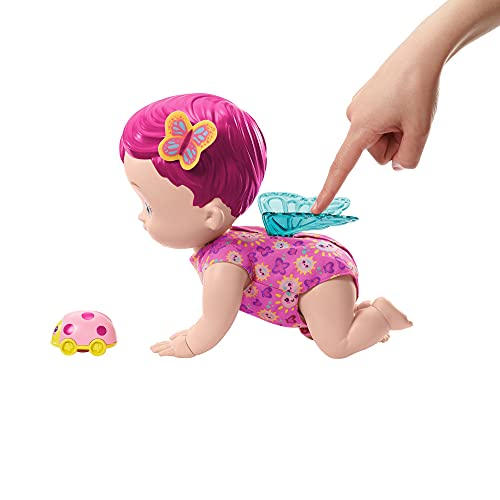My Garden Baby GIGGLE & CRAWL BABY BUTTERFLY Doll, color (Mattel GYP31)