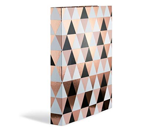 HERMA 7041 Ringbuch DIN A4 Abstract Roségold, 2 Ringe, 35 mm, schmaler folienveredelter Ringbuchordner aus stabilem Karton, 1 Ringbuchmappe