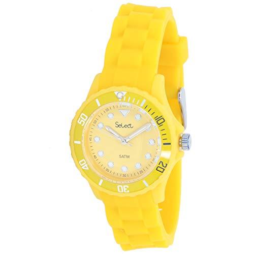 Select Lw-30-08 Reloj Analogico para Mujer Caja De Resina Esfera Color Amarillo