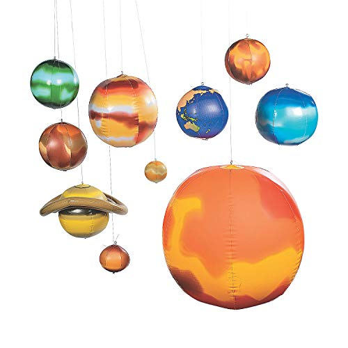 Inflatable Planets Solar System Set - 10 Pieces, 9...