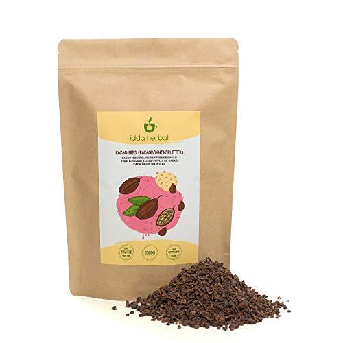 Cacao nibs, semillas de cacao (1kg), nibs de cacao crudas, 100{71881ce40e8f08ca13405c48ca80c8cce37c950007593e7eb07893c51ab8e4db} natural, los granos de cacao en trozos, sin tratar, vegano