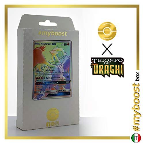 Reshiram-GX 71/70 Arcobaleno Segreto - #myboost X Sole E Luna 7.5 Trionfo dei Draghi - Box di 10 Carte Pokémon Italiane