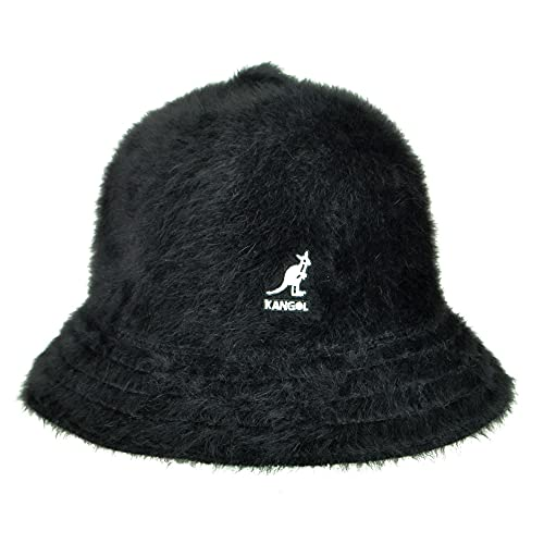 Kangol Furgora Hat, Casual Fuzzy Bucket Hat, Stylish Bucket Hat, Large, Black