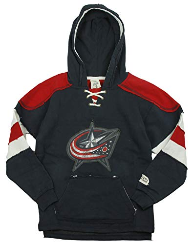 Reebok NHL Columbus Blue Jackets Big Boys Youth (8-20) Vintage Pullover Fleece Hoodie - Navy