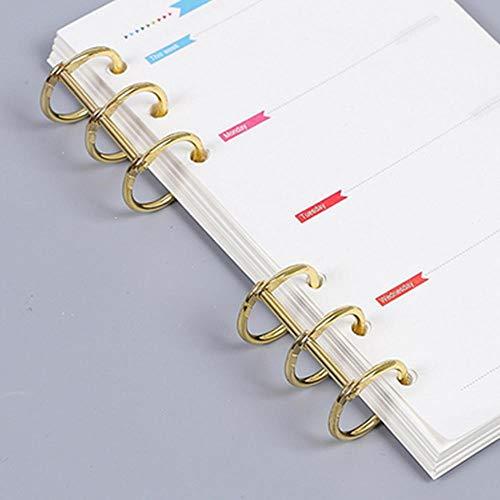 Heng 2 stks metalen losse blad boekbinder scharnierende ringen album plakboek clips craft fotoalbum metalen ringband bureaukalender, goud