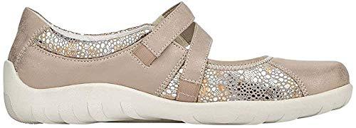 Remonte Damen Ballerinas R3510, Frauen Klassische Ballerinas, Flats sommerschuh Slip-on freizeitschuh sportlich weibliche Lady,altgold,36 EU / 3.5 UK