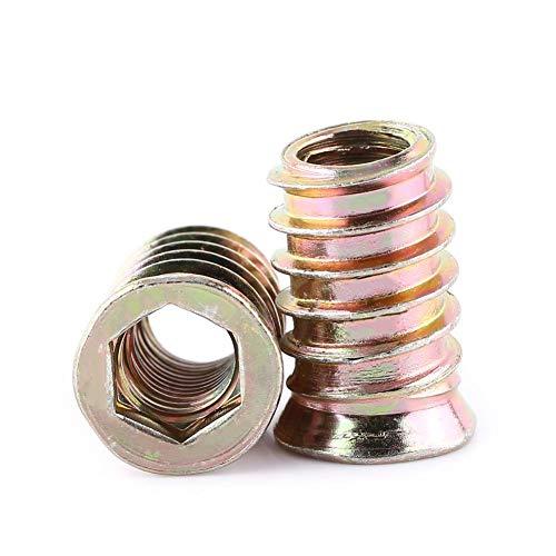 Verzinktes Carbon Stahl Innensechskant Schraube, Möbel Hex Antriebsmutter Holz Einsetzmuttern M6 / M8 / M10, Vollgewinde(M10*25mm)
