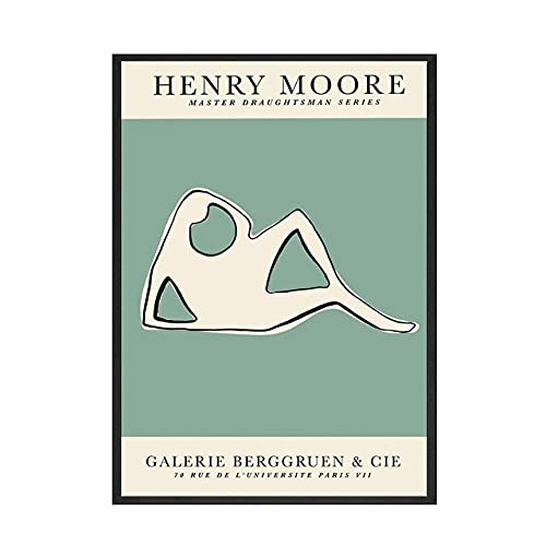 Matisse Henry Moore abstrakte Linie Retro-Poster und -Drucke, hochauflösende Wandbilder, rahmenlose Leinwandbilder A2 30x40cm