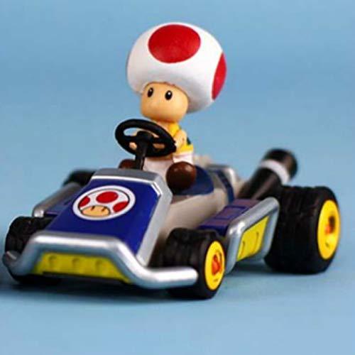 YANGQIAN Mario Kart Tomy Super Mario Twist Egg Modelo Juguete Cardin Inertial Racing Altura 5cm Longitud 7cm.